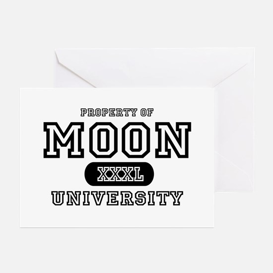 Moon University Property Greeting Cards (Package o