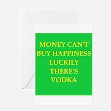 vodka Greeting Card