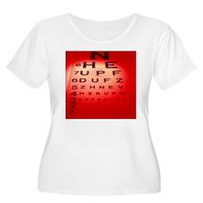 View of a Snellen eye test chart - T-Shirt