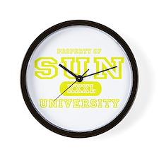 Sun University Property Wall Clock