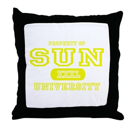 Sun University Property Throw Pillow