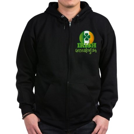 Irish Genealogist Zip Hoodie (dark)