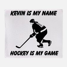 Hockey Is My Game Throw Blanket