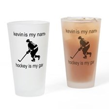 Hockey Is My Game Drinking Glass