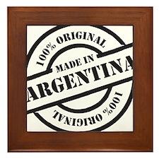 Made in Argentina Framed Tile