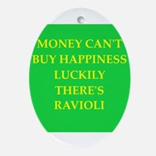 ravioli Ornament (Oval)