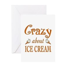 Crazy About Ice Cream Greeting Card