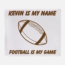 Football Is My Game Throw Blanket