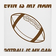 Football Is My Game Tile Coaster