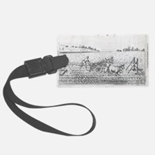 Mechanised plough, 16th century artwork - Luggage Tag