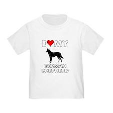 I Love My German Shepherd Gift T