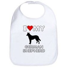 I Love My German Shepherd Gift Bib