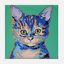small cat Tile Coaster