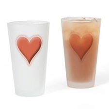 Valentines Day Hearts Pink Drinking Glass