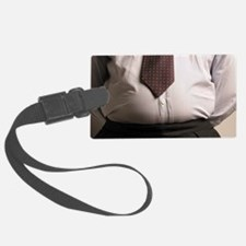 Obese businessman - Luggage Tag