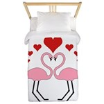 Flamingo Hearts Twin Duvet