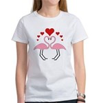 Flamingo Hearts Women's T-Shirt