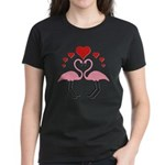 Flamingo Hearts Women's Dark T-Shirt