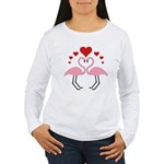 Flamingo Hearts Women's Long Sleeve T-Shirt