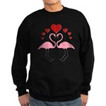Flamingo Hearts Sweatshirt (dark)