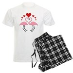 Flamingo Hearts Men's Light Pajamas
