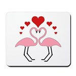 Flamingo Hearts Mousepad