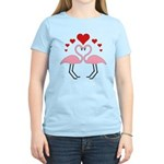 Flamingo Hearts Women's Light T-Shirt