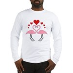 Flamingo Hearts Long Sleeve T-Shirt
