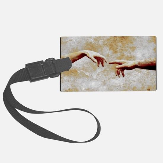 Woman and man touching - Luggage Tag