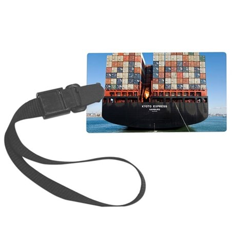 Container ship - Large Luggage Tag