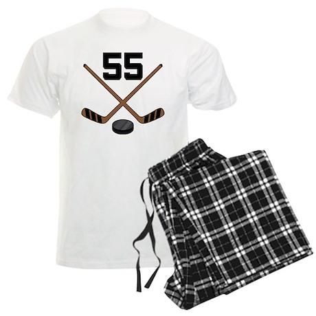 Hockey Player Number 55 Men's Light Pajamas