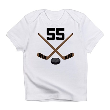 Hockey Player Number 55 Infant T-Shirt