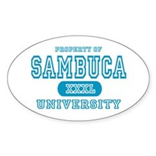 Sambuca University Alcohol Oval Decal