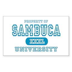 Sambuca University Alcohol Rectangle Decal