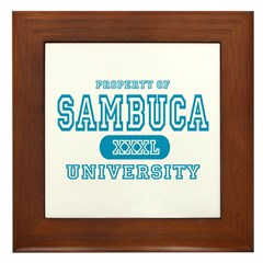 Sambuca University Alcohol Framed Tile