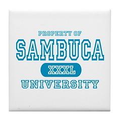 Sambuca University Alcohol Tile Coaster