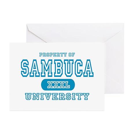 Sambuca University Alcohol Greeting Cards (Package
