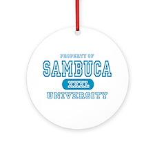 Sambuca University Alcohol Ornament (Round)