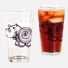 Happy Hippo - ZooWhirlz Drinking Glass