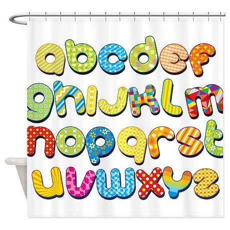 Colorful Kids Alphabet Shower Curtain