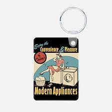 Retro Modern Appliances Keychains