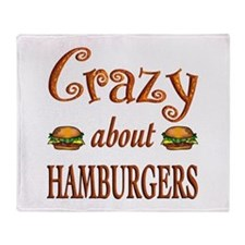 Crazy About Hamburgers Throw Blanket