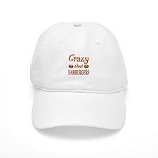 Crazy About Hamburgers Baseball Baseball Cap