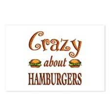 Crazy About Hamburgers Postcards (Package of 8)
