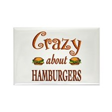 Crazy About Hamburgers Rectangle Magnet