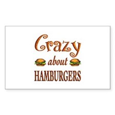Crazy About Hamburgers Decal