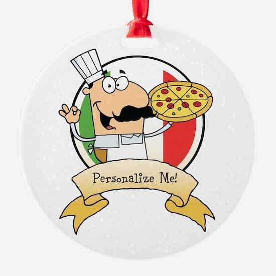 Italian Pizza Chef Ornament