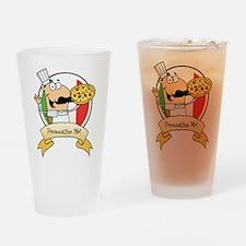 Italian Pizza Chef Drinking Glass