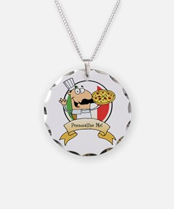 Italian Pizza Chef Necklace