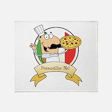 Italian Pizza Chef Throw Blanket